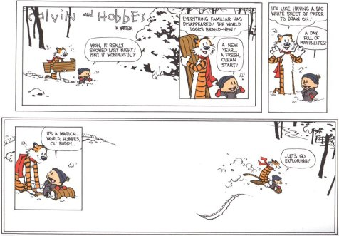 Calvin and Hobbes New Year