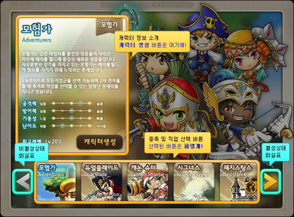 Character Creation Screen Reorganization