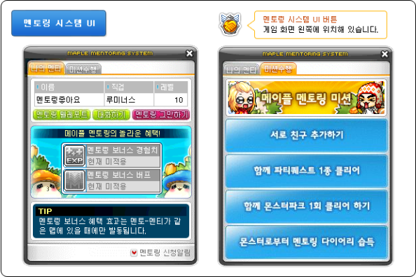 kMS ver. 1.2.179 – MapleStory Unlimited: System Reorganizations! Maple-mentoring-system1
