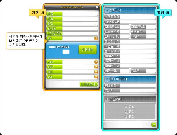 Character Stat Window