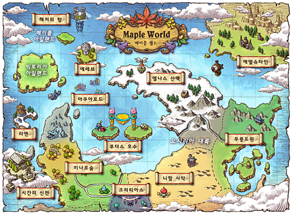 Maple World Map