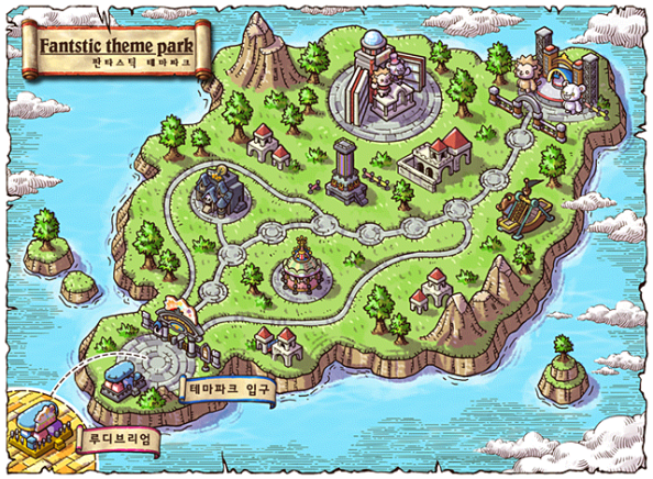 Fantastic Theme Park World Map