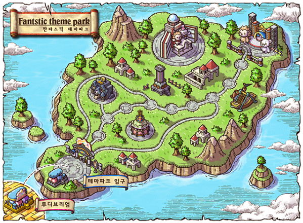 Fantastic Theme Park World Map