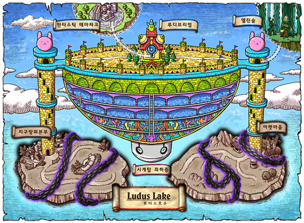 Ludus Lake World Map