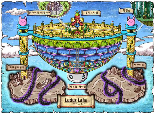 Ludus Lake World Map