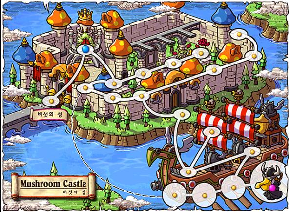 Mushroom Castle Map