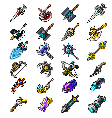Buhizel Weapons
