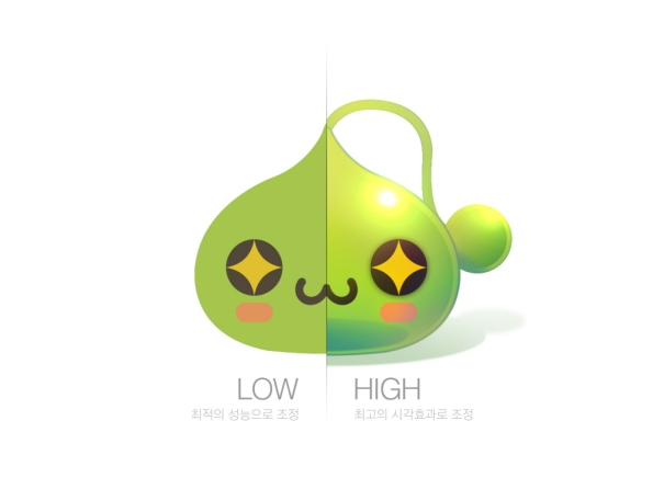 Slime Low and High Graphics