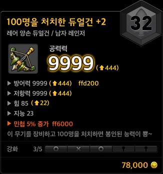 Fighting 100 People Dual Gun