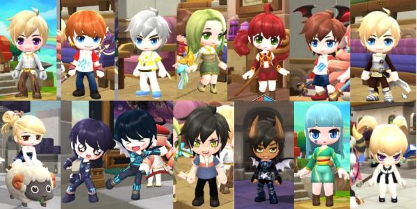 MapleStory 2 Characters