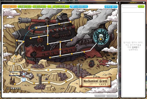 Mechanical Grave World Map
