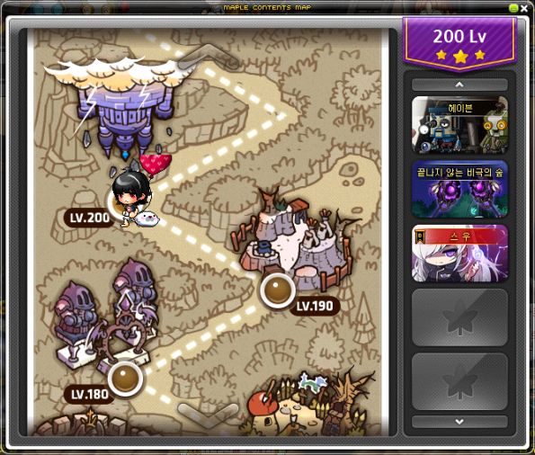Maple Contents Map (level 200)