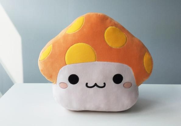 Orange Mushroom Cushion