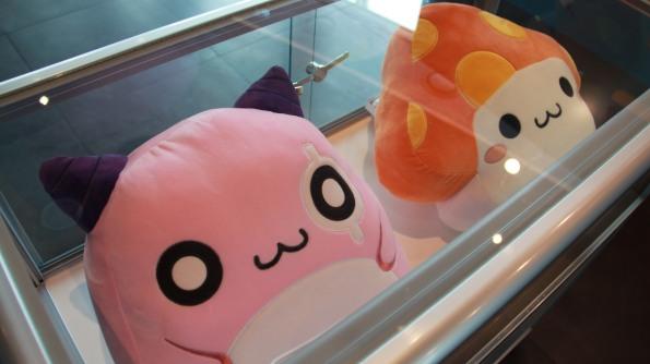 Pink Bean and Orange Mushroom Cushions
