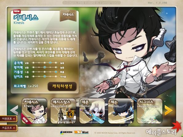 Kinesis Character Creation