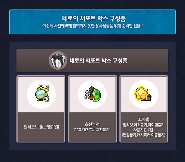 Nero's Support Box Rewards