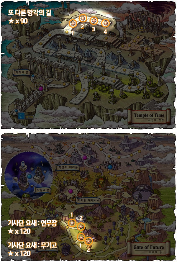 Temple of Time and Knight's Stronghold Star Force Zones