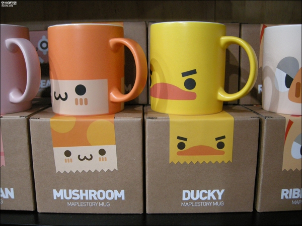 Orange Mushroom and Ducky Mugs