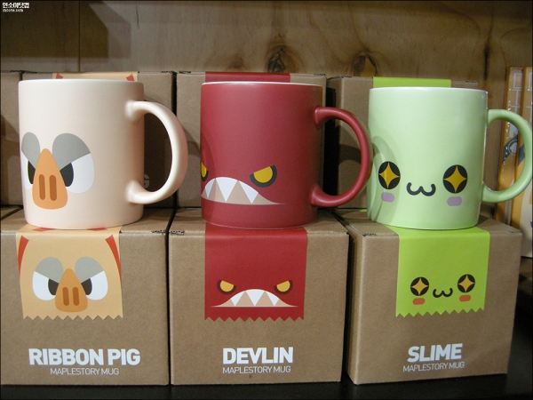 Ribbon Pig, Devlin and Slime Mugs