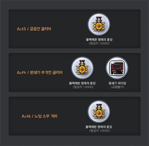 Additional Clear Rewards