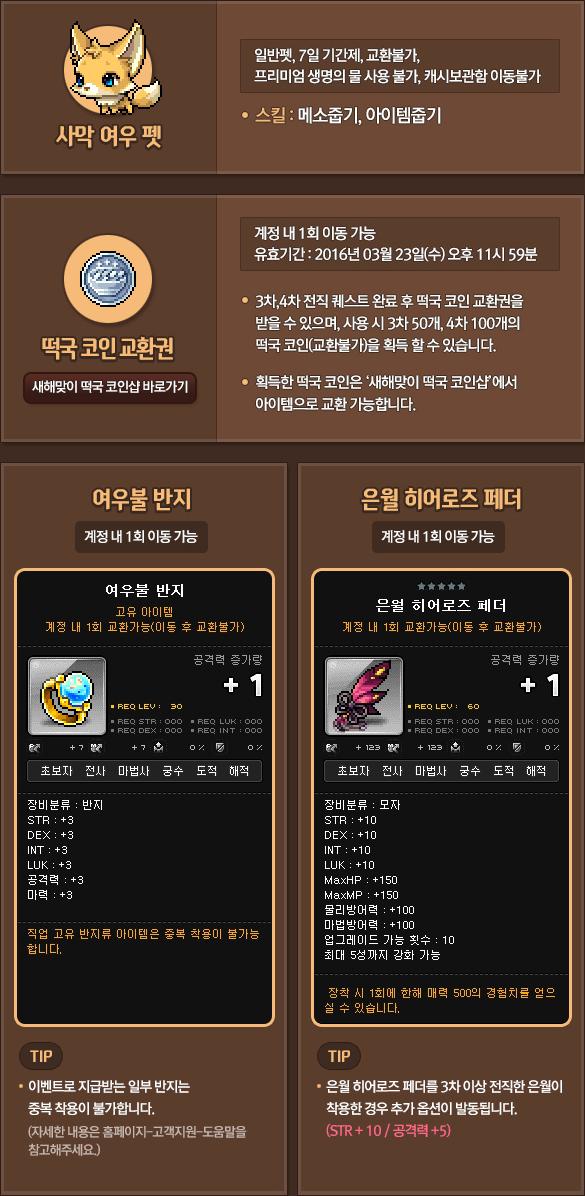 Eunwol Breakthrough Event Items