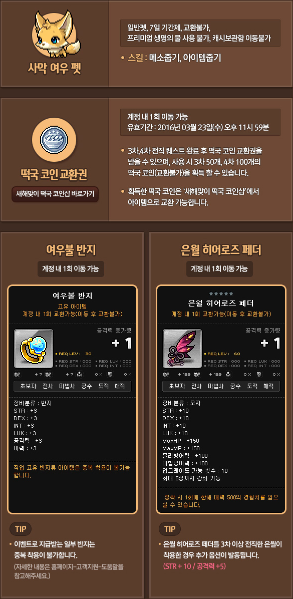 Eunwol Breakthrough Event Items