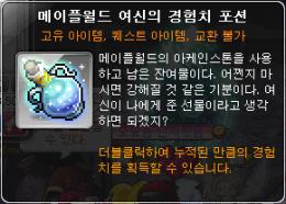 Maple World Goddess' Experience Potion