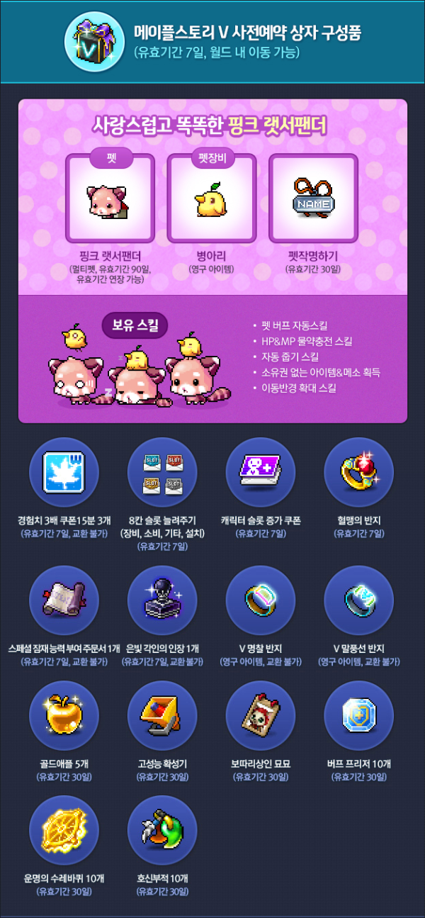 MapleStory V Pre Registration Box