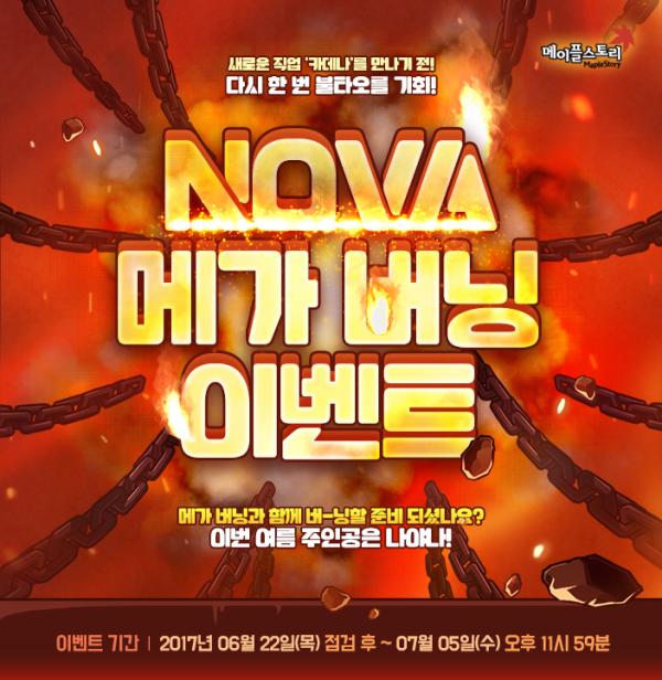 Nova Mega Burning Event
