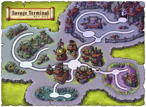 Savage Terminal World Map