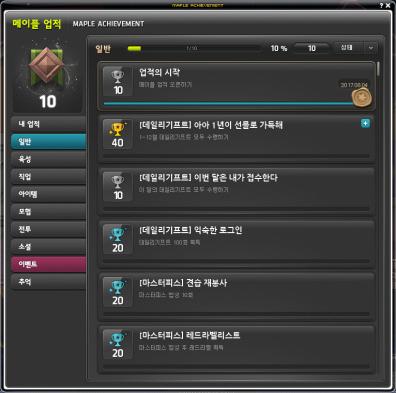 Achievements (General 1)