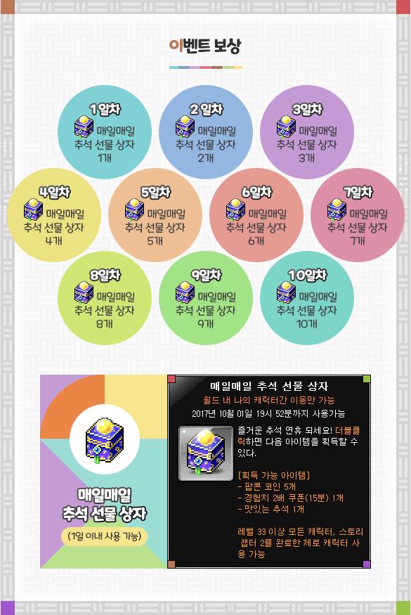 Daily Chuseok Gift Box Attendance