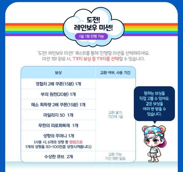 Rainbow Mission Rewards