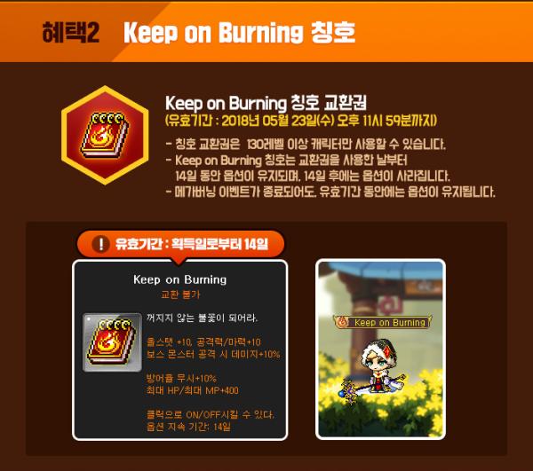 Keep On Burning Title
