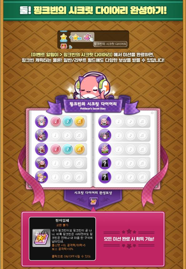 Pink Bean's Secret Diary