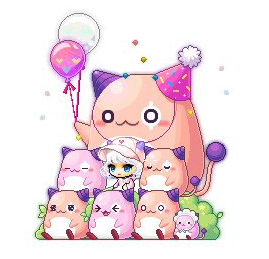 Pink Bean, Happy Birthday Chair
